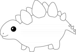 Stegosaurus Kids Coloring Page Great for Beginner Coloring Book vector