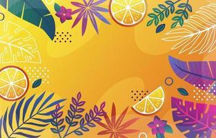 fondo floral de verano colorido vector