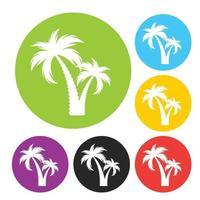 silueta de palmera simple vector