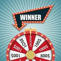 Wheel of Fortune Lucky background vector