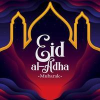 Eid Al Adha Background Concept vector