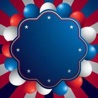 American Celebration Background Template vector