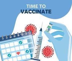 hora de vacunar vector