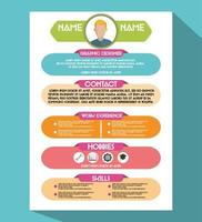 curriculum vitae creative vector