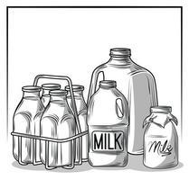 packaging for milk vector