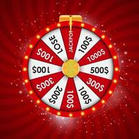 Wheel of Fortune Lucky background Vector Illustration