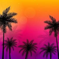Ilustración de vector de fondo de palmeras beautifil
