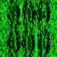 Background in a matrix style Falling random numbers vector