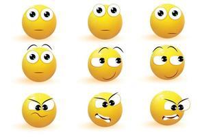 Emoji Emotion icons vector collection