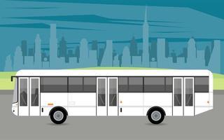 bus blanco maqueta coche vehículo icono vector
