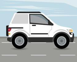camper mockup car vehicle icon vector
