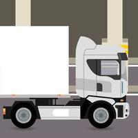 truck mockup car vehicle in parking zone icon vector