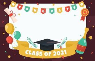Fun Graduation Photo Frame Template vector
