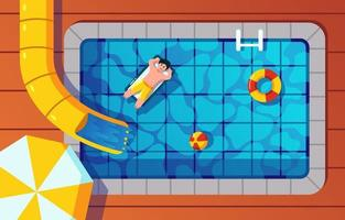 Swimming Pool on Summer Time vector