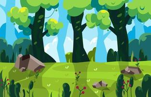 Forest View for Summer Activity vector