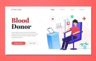 Blood Donor Activism Landing Page vector