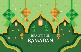 Ketupat Ramadan Background vector