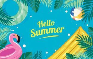 Happy Summer Pool Background vector