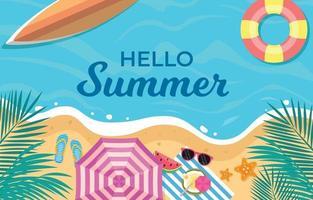 Relaxing Summer Beach Background vector