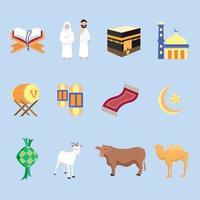 conjunto de iconos de eid adha vector