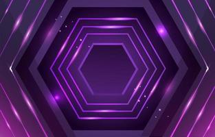 Hexagon Neon Lavender Background vector