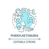 Phenylketonuria blue concept icon vector