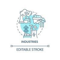 Industries concept icon vector