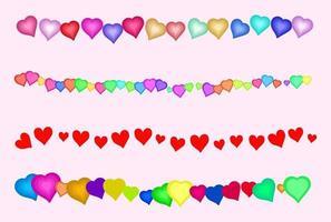 Love Heart Border Decorations vector