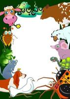 Cute Wild Animal Page Border vector