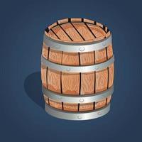Barril de madera 3d vector