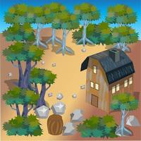 Cabin in The Wood vector