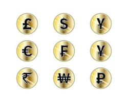 Currency icon set design illustration vector