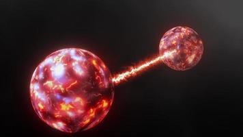 Concepto de fondo de animación de ciencia física de entrelazamiento cuántico 3d video
