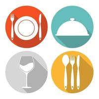 Food Icon Set for Web and Mobile Application vector