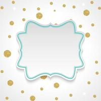 Abstract Background with Frame and confetti vector
