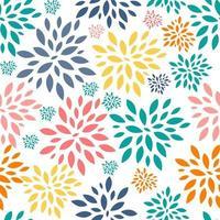 Fondo floral de patrones sin fisuras para bodas y cumpleaños vector