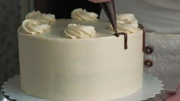 Making a chocolate cake Confectioner work video