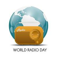 World Radio Day Background Vector Illustration