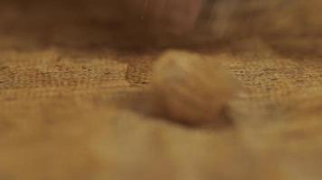 Tallas de madera cinceles y macro de talla de sonido asmr video