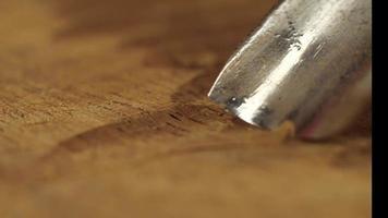 cinceles tallados en madera y tallado de sonido asmr video