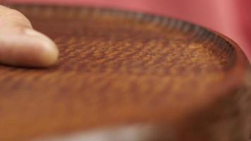 wax polishing mahogany boards video