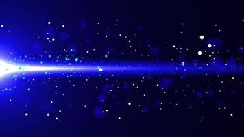 Blue Flowing Glow Particle with Flare Background video