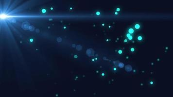 Blue Floating Forward Particle with Moving Flare Background video