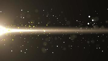 Gold Flowing Glow Particle with Flare Background video