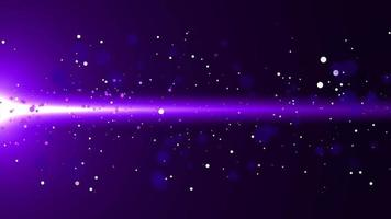 Purple Flowing Glow Particle with Flare Background video