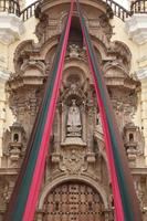 Entrance detail of Monastery of San Francisco in Lima Peru photo