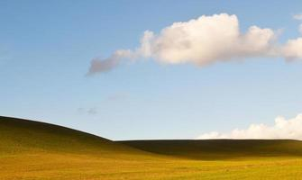 Green hills under clouds during daytime photo