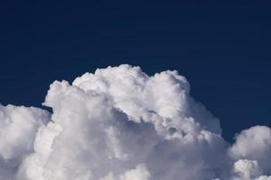 White cumulus clouds photo
