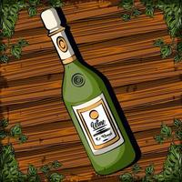 wine bottle drink isolated icon vector