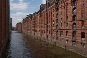 Warehouse district of Hamburg Speicherstadt in Germany photo